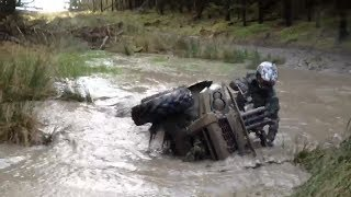 6. Kawasaki Brute Force ATV QUAD Tips Over!!!