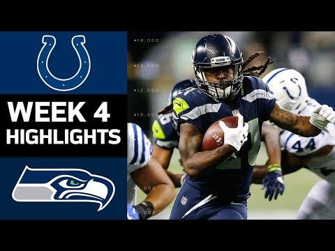 Colts vs. Seahawks | NFL Week 4 Game Highlights (видео)