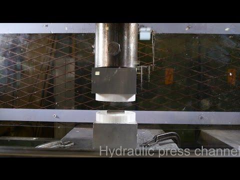 液壓機將同極釹磁鐵壓在一塊 結果出乎意料 竟然...?