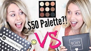$50 Palette?! | UNBOXING: Boxycharm VS Glossybox by Eleventh Gorgeous