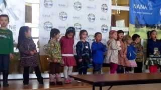 My daughter singing with her class for the