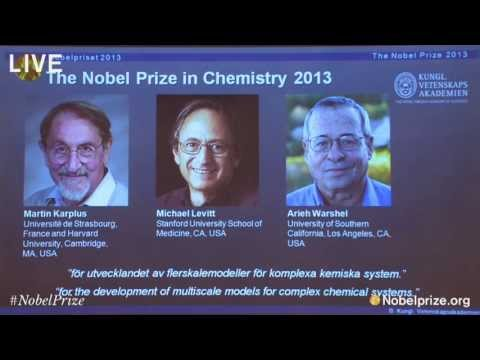 Prize - The Nobel Prize in Chemistry 2013 was awarded jointly to Martin Karplus, Michael Levitt and Arieh Warshel