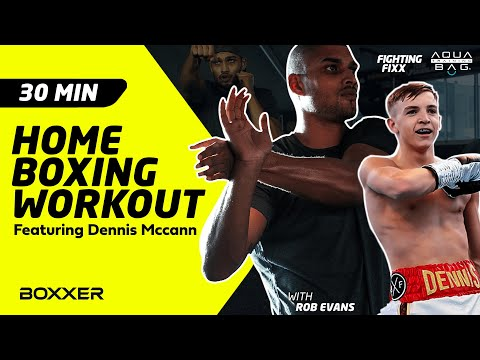 Fighting Fixx ep4 Boxing and full body home workout - hosted by Rob Evans (featuring Dennis Mccann)
