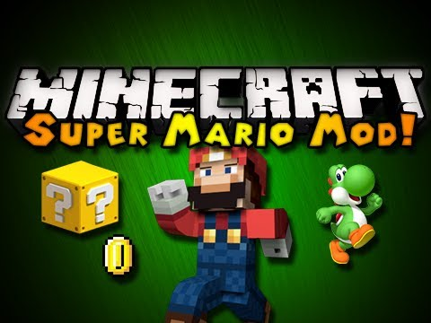 Minecraft: Super Mario Mod - MARIO BLOCKS, YOSHI, SOUNDS, & MORE! (HD)