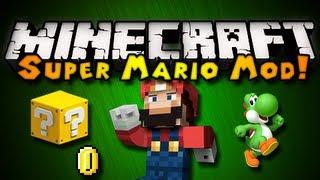 Minecraft: Super Mario Mod - MARIO BLOCKS, YOSHI, SOUNDS,&MORE! (HD)