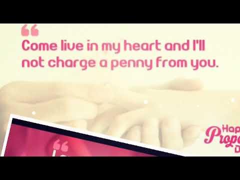 Propose Day Status - romantic quotes