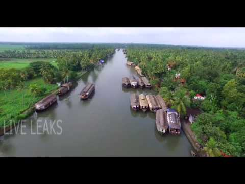 Video Alleppey Backwaters Kerala   Aerial View   Beautiful Alleppey Houseboats   India   HD 1080 download in MP3, 3GP, MP4, WEBM, AVI, FLV January 2017