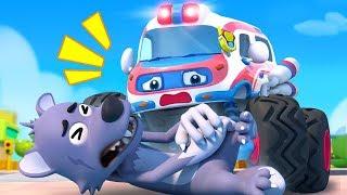 Video Big Bad Wolf and Monster Ambulance | Monster Truck | Fire Truck, Police Truck | Kids Songs | BabyBus MP3, 3GP, MP4, WEBM, AVI, FLV Juni 2019