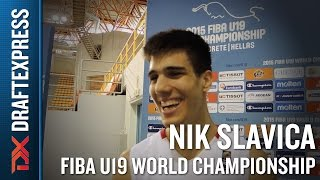 Nik Slavica 2015 FIBA U19 World Championship Interview.