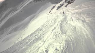 Courmayeur Italy  City new picture : Off-Piste skiing in Courmayeur, Italy 2014; Cresta d'Arp