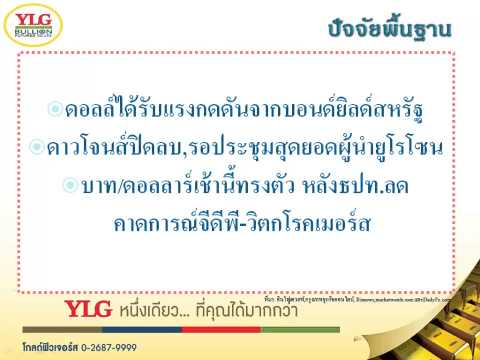 YLG บทวิเคราะห์ราคาทองคำประจำวัน 22-06-15