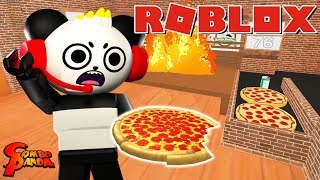 WORKING AT A PIZZA PLACE IN ROBLOX! Combo Panda's FIRST JOB!?