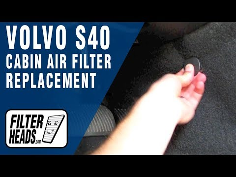 Cabin air filter replacement- Volvo S40