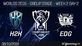 H2K vs EDG - World Championship 2016 - Group Stage Week 2 Day 2