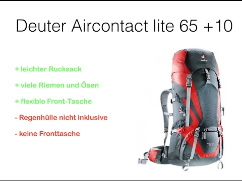 Review Deuter Aircontact lite 65 +10 - Rucksack Backpack Test