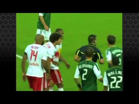 Thierry Henry receives Red Card