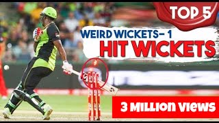 Top 5 - Weird Wickets 1 - Hit Wickets | Simbly Chumma