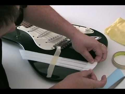 Decal Guitar Stripe Application