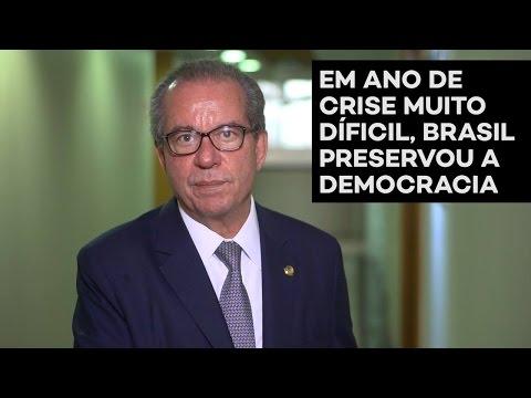José Aníbal: democracia preservada em ano de crise muito difícil