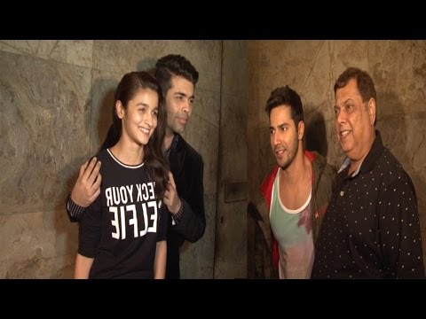 Varun Dhawan, Alia Bhatt, Sridevi & Other Celebs At Screening Of Film Dil Dhadankne Do