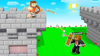 Using God Armor To Defend My Castle In Minecraft