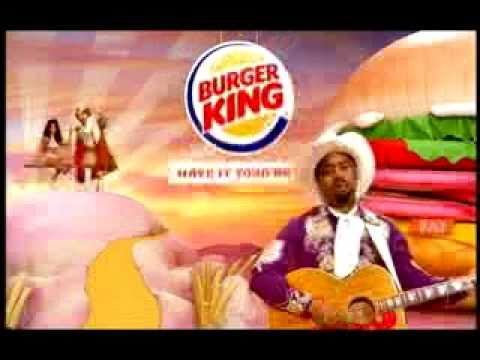 Burger King TV Ad Tender Crisp Sandwich with Hootie (Darius Rucker)