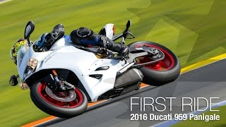10. 2016 Ducati 959 Panigale First Ride Review - MotoUSA