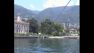 Our passage by boat from Cadenabbia to Como we saw George Clooney's house.