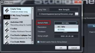 PreSonus Studio One Pro 2. Создание новой песни