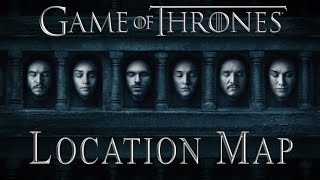 The opening credits of Game of Thrones showing all locations from seasons 1 to 6 with a scene from the show.