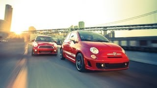 Car And Driver: Tested : 2012 Fiat 500 Abarth Vs. 2012 Mini John Cooper Works - CAR And DRIVER