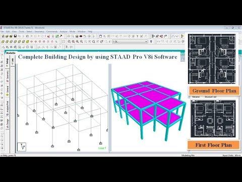 Building Design (G+1) In STAAD Pro V8i Software
