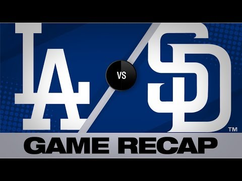 Video: Dodgers score 2 in 10th to push past Padres   Dodgers-Padres Game Highlights 8/28/19