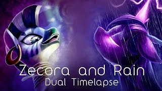 Zecora and Rain (Two Illustration Time-lapse)