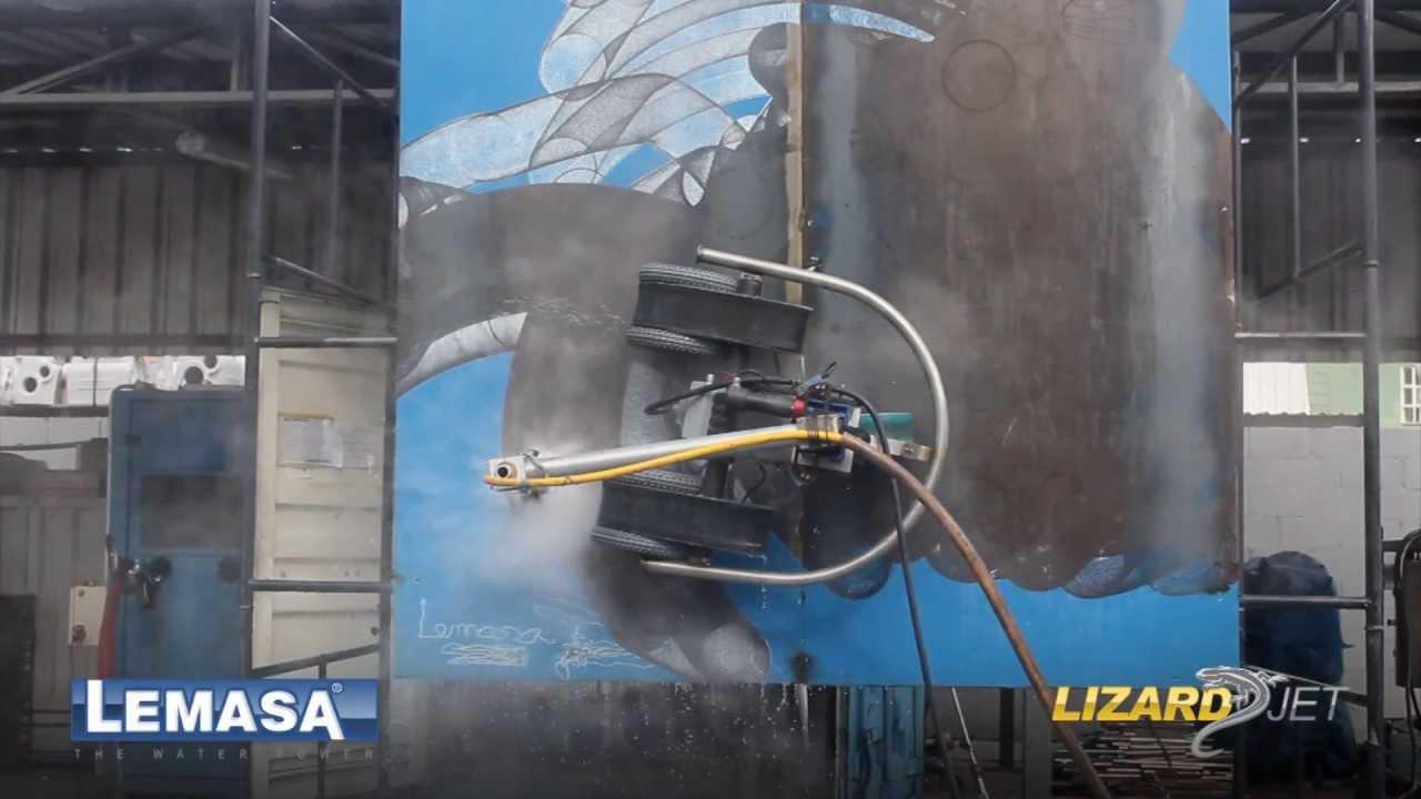 LIZARD JET LEMASA - Preparação de Superfícies com hidrojato automatizado