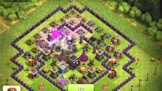 Clash of clans : defense vs 9 PEKKA