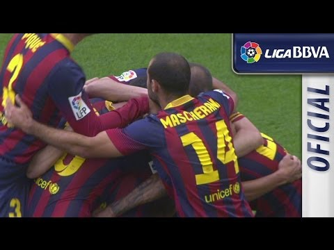 Amazing goal of Alexis (1-0) FC Barcelona - Atlético Madrid