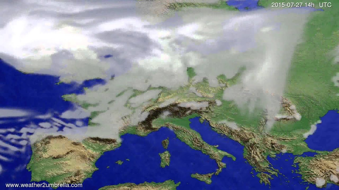 Cloud forecast Europe 2015-07-23