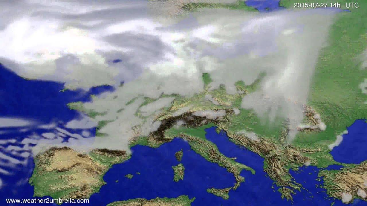 Cloud forecast Europe 2015-07-23