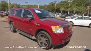 Autoline Preowned 2008 Nissan Armada For Sale Used Walk Around Review Test Drive Jacksonville