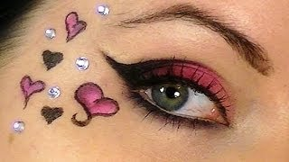 Valentine's Day Cat Eye Makeup Tutorial | Makeup Miracles Online - YouTube