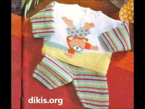 Erkek Bebek Örgü Yelek Modelleri