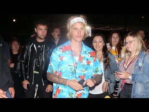 Justin Bieber Leaves Hollywood Bowl After Epic Performance With Post Malone