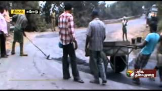 Road restoration works in Thimbam, Erode