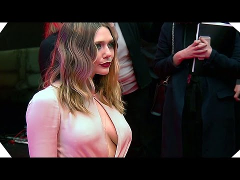 CAPTAIN AMERICA Premiere footage - Elizabeth Olsen Is Stunning