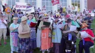 Fredericton, Sept 17, The Raging Grannies and Friends