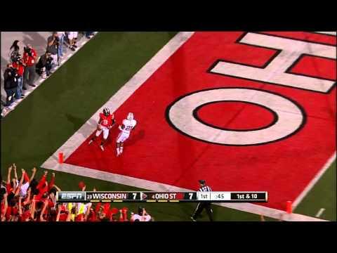 Devin Smith 26-yard touchdown catch vs Wisconsin 2013 video.