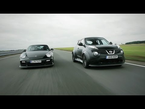 gt2 - We pit the GT-R-powered Nissan Juke-R against a Porsche 911 GT2 RS in a turbo six-cylinder face-off on the latest episode of Car and Driver: Abroad. Subscrib...