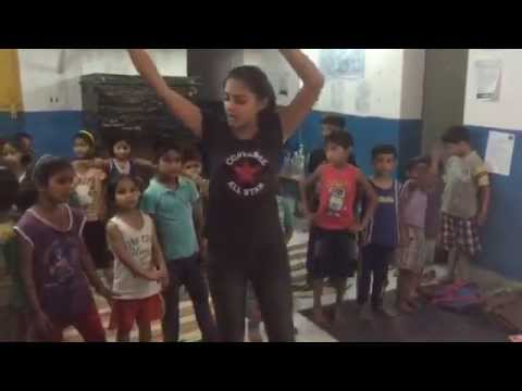 Junior students singing at Maitri's Summer Camp 2015