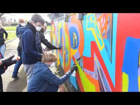 Shrewsbury skatepark painting project turns offensive graffiti tags into works of art